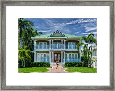Southern Beach Home - Florida Framed Print by Frank J Benz