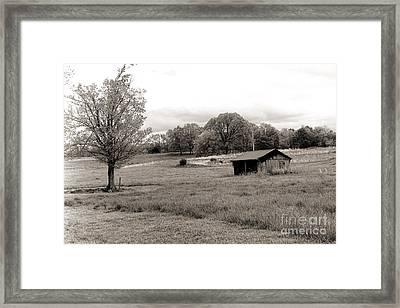 Southern Bw Framed Print by Chuck Kuhn