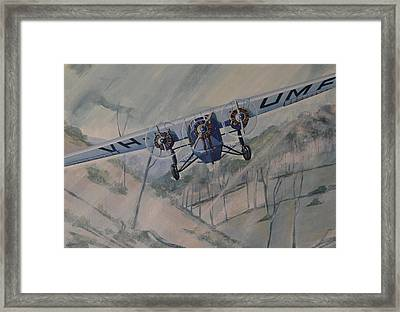 Framed Print featuring the painting Southern Cloud Vh-umf by Murray McLeod
