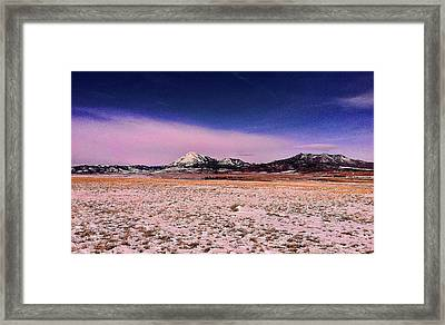 Southern Colorado Mountains Framed Print