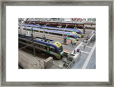 Southern Cross Station Framed Print by Ashley Cooper