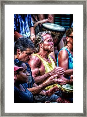 Southern Drums Framed Print by John Haldane