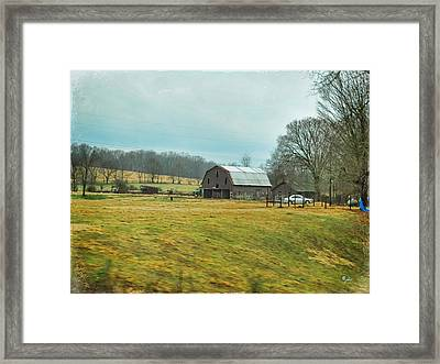 Southern Farm Framed Print by Paulette B Wright