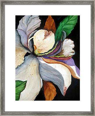 Framed Print featuring the painting White Glory II by Lil Taylor