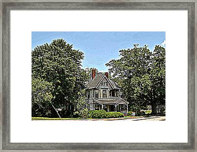 Southern Home Framed Print by Beverly Hammond