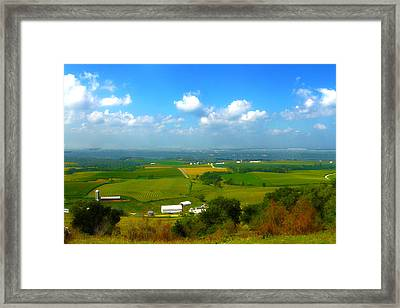 Southern Illinois River Basin Farmland Framed Print