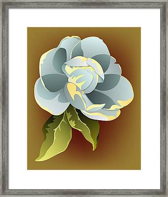 Southern Magnolia Blossom Framed Print by MM Anderson