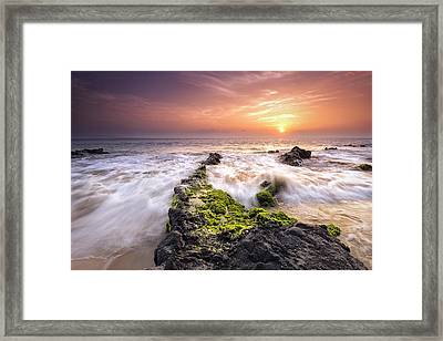 Framed Print featuring the photograph Southern Maui Sunset by Hawaii  Fine Art Photography
