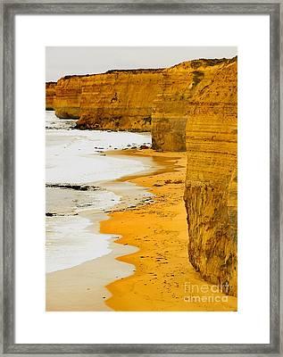 Southern Ocean Cliffs Framed Print