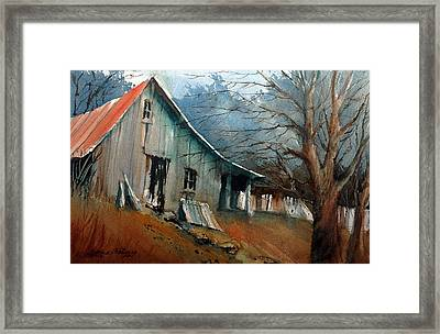 Southern Ohio Farm Yard Framed Print by Charles Rowland