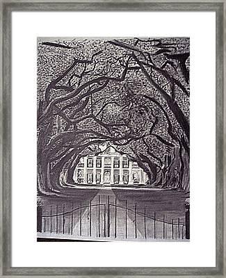 Southern Plantation Framed Print