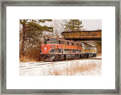 Southern Railroad Of New Jersey Locomotive Framed Print by Kristia Adams