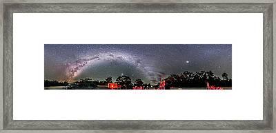 Southern Sky Panorama 2 Rectangular Framed Print by Alan Dyer