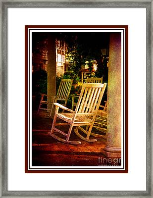 Southern Sunday Afternoon Framed Print by Susanne Van Hulst