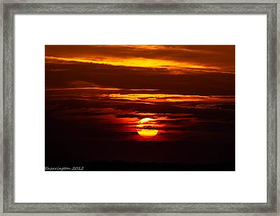 Southern Sunset Framed Print