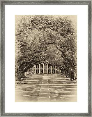 Southern Time Travel Sepia Framed Print by Steve Harrington