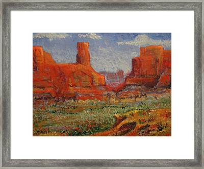 Southern Utah In The Spring Framed Print by Paul Benson