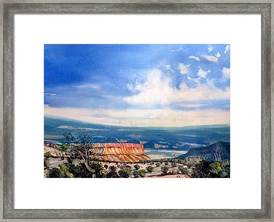 Southern Utah Panorama Framed Print by Matthew Chatterley