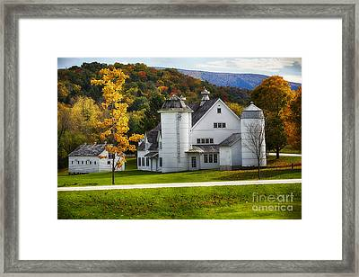 Vermont Fall Scenic II Framed Print by George Oze