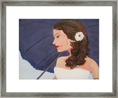 Southern Woman Framed Print by Glenda Barrett