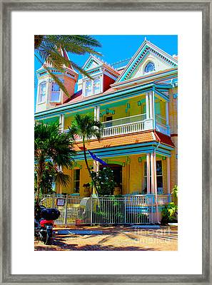 Southernmost House Framed Print by Carey Chen