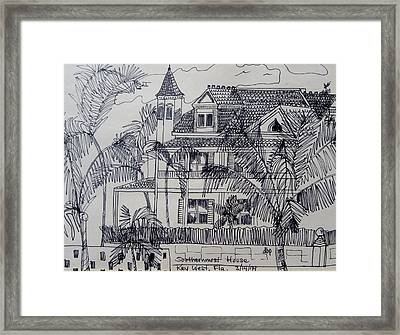 Southernmost House  Key West Florida Framed Print by Diane Pape