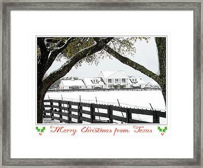 Southfork Christmas Framed Print by Dyle   Warren