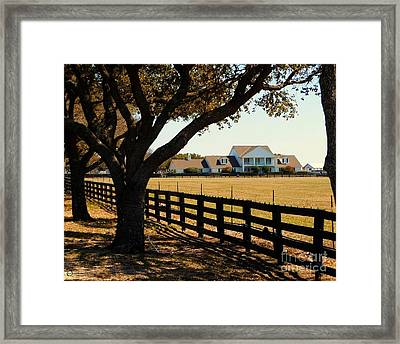 Southfork Ranch - Across The Pasture Framed Print
