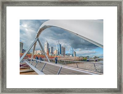Southgate Bridge Framed Print by Ray Warren