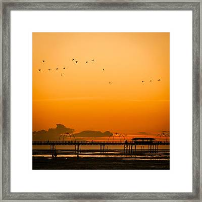 Southport Pier At Sunset Framed Print