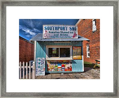 Southport Sno Framed Print by Don Margulis