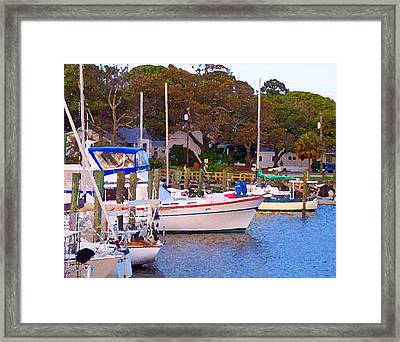 Southport Watercolor Framed Print by Garland Johnson