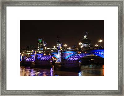 Southwark Bridge Framed Print by Ash Sharesomephotos