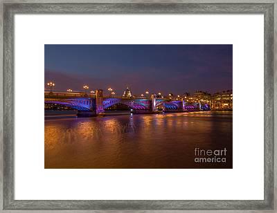 Southwark Bridge Framed Print by Pete Reynolds