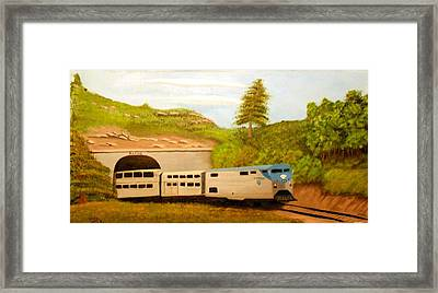 Southwest Chief At Raton Pass Framed Print by Sheri Keith