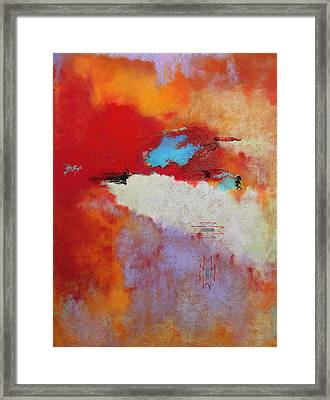 Southwest Color Burst Framed Print by M Diane Bonaparte