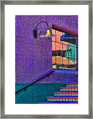 Window Colors Framed Print by Maria Coulson