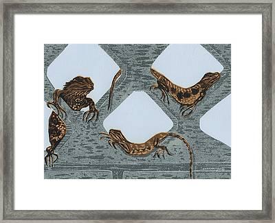 Southwest Condos Framed Print by Maria Arango Diener