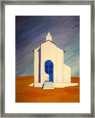 Southwest Contemporary Art - Desert Solitude Framed Print by Karyn Robinson