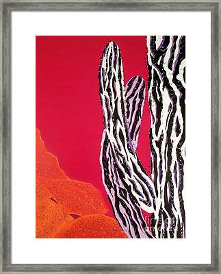 Southwest Contemporary Art - The Wild Wild West Framed Print