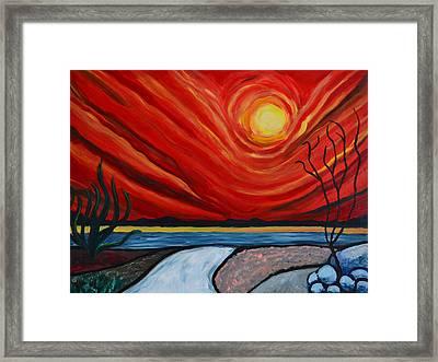 Southwest Desert Sun Framed Print