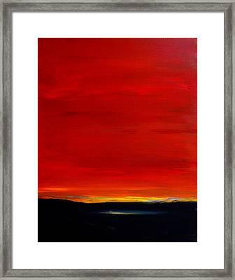 Southwest Desert Sunrise Framed Print