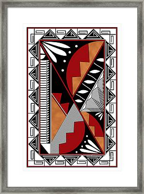 Southwest Collection - Design Seven In Red Framed Print by Tim Hightower