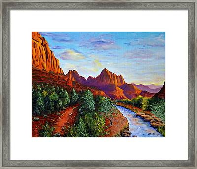 Southwest Evening Framed Print