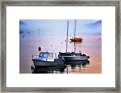 Southwest Harbor View - Mount Desert Island Framed Print by Expressive Landscapes Fine Art Photography by Thom