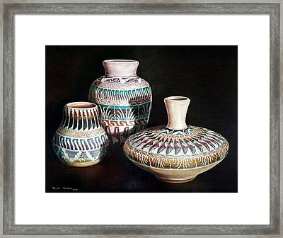 Southwest Pottery Framed Print