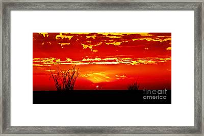 Southwest Sunset Framed Print