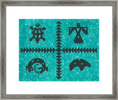 Southwest Symbols Framed Print