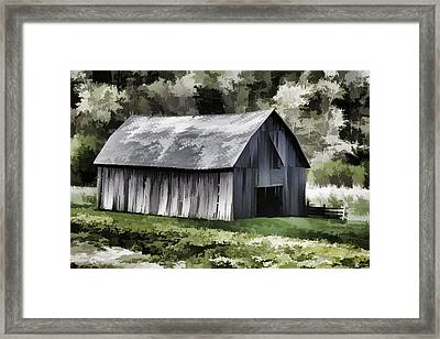 Southwest Wisconsin Barn Painted Framed Print by Thomas Young