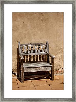 Southwestern Bench Framed Print by Art Block Collections